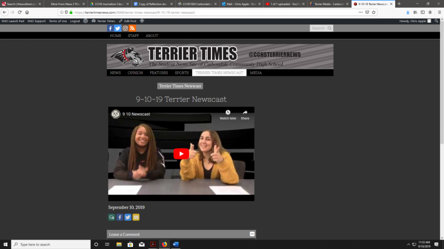 9-10-19 Terrier Newscast