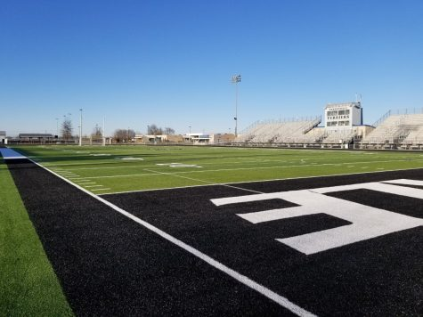 Photo from the CCHS Twitter Soccer page. The Frank Bleyer field will be used for the 2021 Homecoming dance.