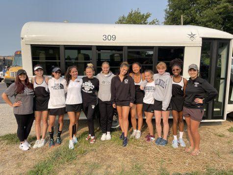 CCHS Girls Tennis Team at the Triad Tournament.