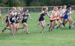 Photo taken by Brandi Jones. Girls Cross Country race start.
